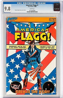 American Flagg #1 CGC 9.8 Howard Chaykin! One of the Best 1980s Indy Comics!