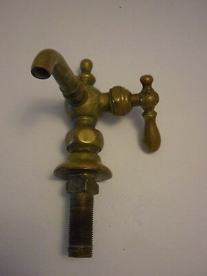 ANTIQUE, Brass Faucet Single Spigot  with Right Hand Faucet Turn