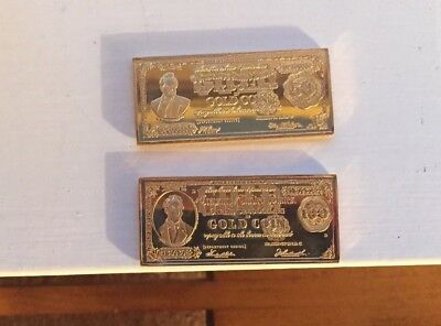 $50 and $100 Gold Certificate Bar Tokens-Real Gold!