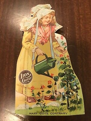 Mary Quite Contrary ~ Lion Coffee Trade Card  ~ Children's Dolls