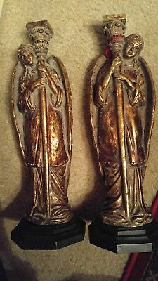 Tall Angel Candlesticks