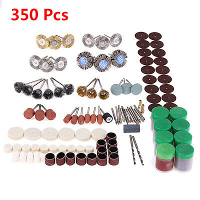 350pcs/Sets New Rotary Tool Accessory Kit Fits For Grinding/ Sanding/ Polishing