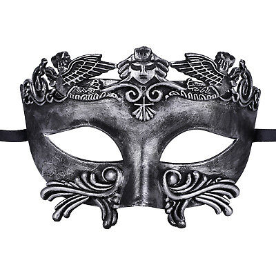 Mens Roman Egyptian Masquerade Party Half Face Ancient Greek Venetian Mask