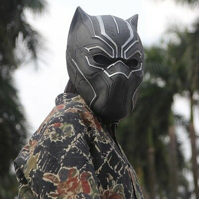 New 3D Black Panther Cosplay Mask