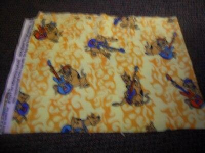 Scooby Doo Hanna Barbera Fleece Fabric Panel To Sew Vintage