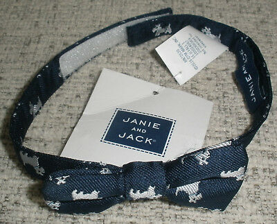 Brand New JANIE AND JACK Blue Boys Bow Tie With Hook And Loop Closure ONE SIZE