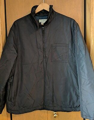 Men's J.Crew Pullover Nylon Windbreaker Jacket Black Size Medium
