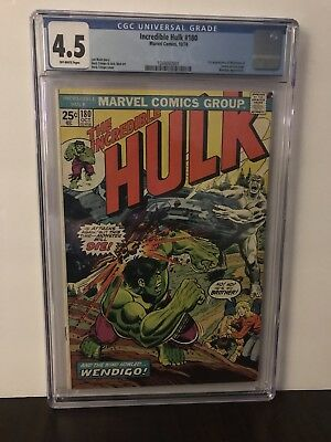 The Incredible Hulk 180. CGC 4.5  1st Wolverine (cameo)