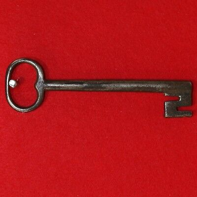 "Antique KEY 18th C. English Castle Door Church Jail House Lock 6.625"" Long"