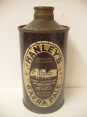 Rare 12 oz IRTP Hanley's Peerless Extra Pale Ale cone top Beer Can