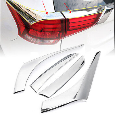 For Mitsubishi Outlander 2016-2017 Chrome Rear Tail Light Lamp Cover Trim 4pcs