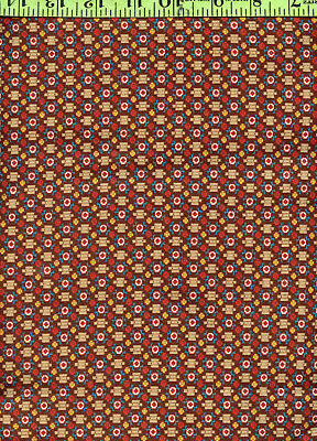 Earth Tones Geometric Calico Print 100% Cotton Quilting Quilt Fabric 1+Yds!