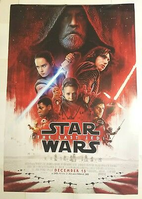 STAR WARS The Last Jedi Double Sided Original Theater 27x40 Final Movie Poster