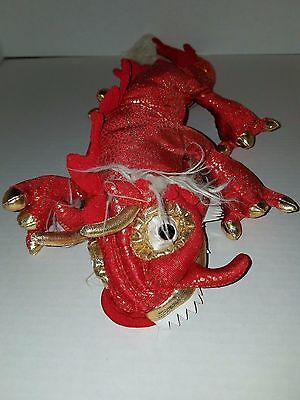"Folkmanis Red Chinese Dragon Hand Puppet 20"" Long"