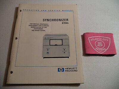 Hewlett Packard Hp 8709A Synchronizer Operating & Service Manual