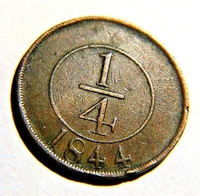 Dominican Republic - 1/4 Real - Xf Coin 1844 Year Km#1