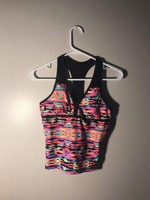 Justice NWT Multicolored Two Piece Tankini Swimsuit Size 18