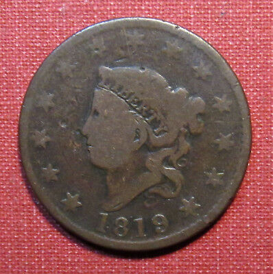 1819 Coronet Head Large Cent - Decent Details, Nice Type Example! Please View