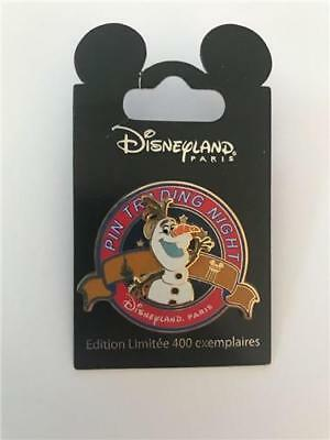 DLP- PIN TRADING NIGHT OLAF from FROZEN LE 400 DISNEY DLRP PARIS PIN