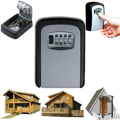 4 Digit Combination Password Key Box Wall Mount Safety Lock Organizer Case Tools