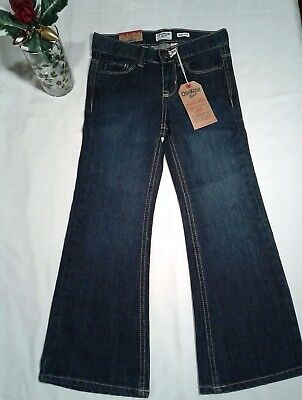Girl's OshKosh B'gosh Premium Denim Bootcut Flared Jeans Dark Blue Size 6XR NWT!