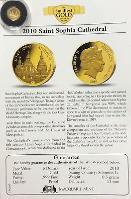 2010 $5 .99999 gold Saint Sophia cathedral