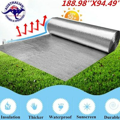 4.8x2.4M Double Aluminium Foil Bubble Insulation Reflective Car Radiant Barrier