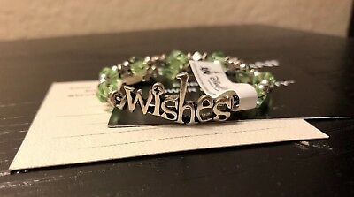 Disney Alex and Ani WISHES Wrap Bracelet- Green and Silver