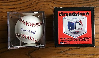 President Gerald Ford signed rawlings official baseball authentic major league