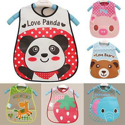 Boy Girl Kids Bibs Waterproof Saliva Towel Cartoon Bib Feeding Bandana CZ #L