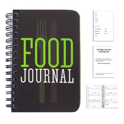 BookFactory Food Journal / Food Diary / Diet Journal Notebook, 120 pages - 3 1/2