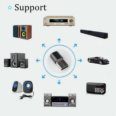 USB BLUETOOTH WIRELESS 3.5MM STEREO AUDIO MUSIC RECEIVER ADAPTER AUX Car Home