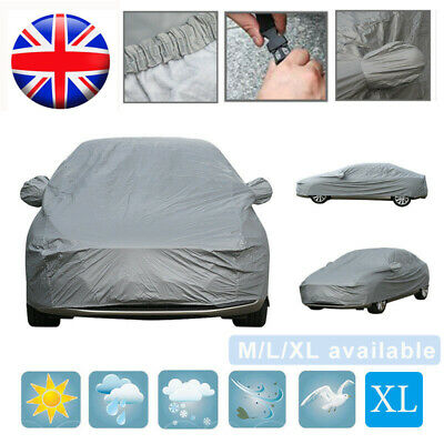 Universal Heavy Duty Full Car Cover UV Protection Outdoor Breathable XL Size UK