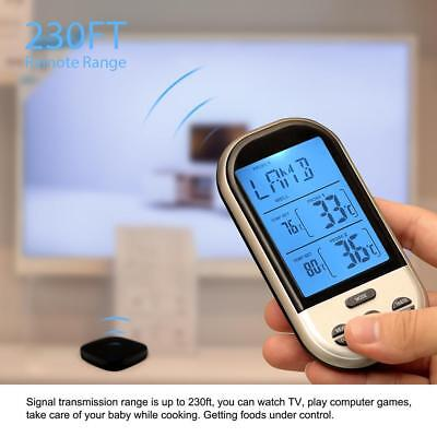 200 Feet Digital Wireless Remote Smoker Cooking Food Meat Thermometer for BBQ