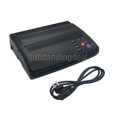 Black Tattoo Transfer Copier Printer Machine Thermal Stencil Paper Maker sz#