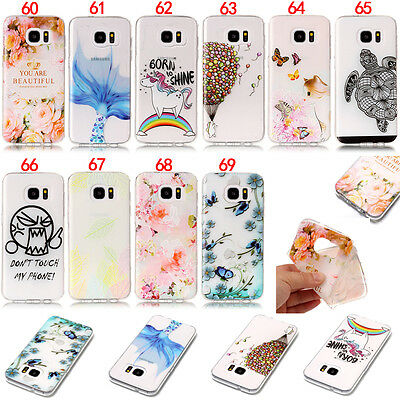 Flower Soft Silicone TPU Case Cover For Samsung S7 S8 A3 2017 A5 J3 J5 2016 G390
