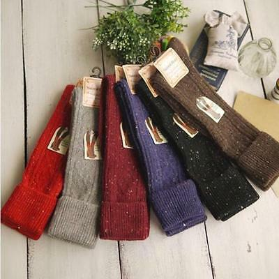 One Pairs Boot Socks Wool Cashmere Knee-High Thick Warm Girl Design CZ #L