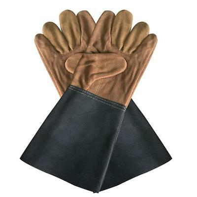 Durable Welding Welder Work Soft Cowhide Leather Plus Gloves Hand Protection Pop