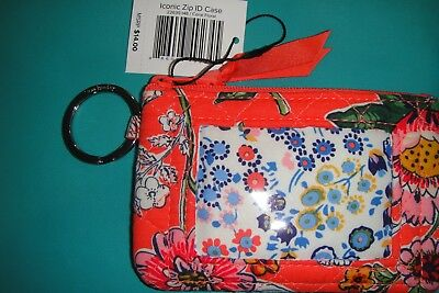 """Vera Bradley  Zip Id Case """"coral Floral"""" New Pattern!  New With Tags!"""