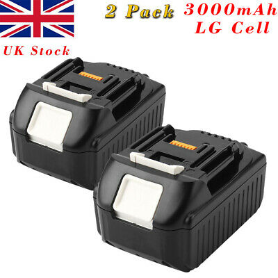 2x 18V 3.0AH Lithium Ion Battery For Makita BL1860 BL1830 BL1840 BL1850 LXT400