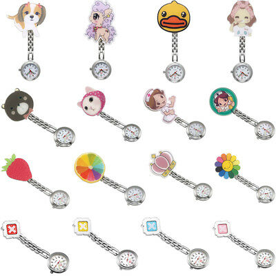 Cute Alloy Chain Clip-on Nurse Doctor Brooch Pendant Fob Pocket Quartz Watches