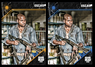 Topps The Walking Dead Card Trader  Point of Impact OSCAR Gold & Blue Digital