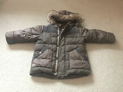 Next Boys Warm Padded Showerproof Coat Age 1.5-2 years / 18-24months