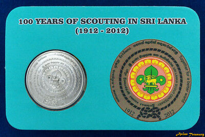Sri Lanka 2 Rupees 2012 Scout Centenary Commemorative Unc Coin In Souvenir Pack