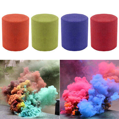10Pcs Colorful Smoke Cake Smoke Effect Show Round Bomb Photography Aid AG44