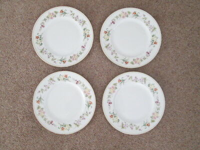 "Set Of 4 Wedgwood Mirabelle  Dinner Plates  10.75"" Wide"