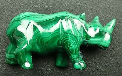 Malachite 53 grammes rhinocéros - Natural rhinoceros Malachite