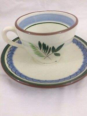 Stangl Fruit and Flowers- 2 Pieces Coffee cup and Saucer-Hand Painted