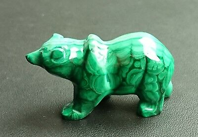 Malachite 37 grammes ours - Natural bear Malachite