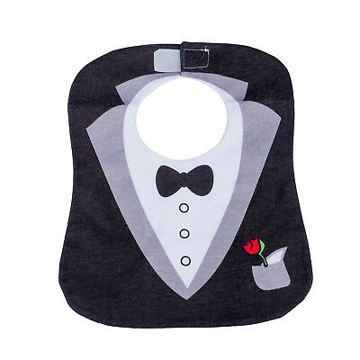 Black Cute Tuxedo Toddler Nutrition Baby Bib R6Q2